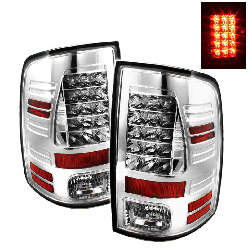 Spyder Dodge Ram 1500 09-14 10-14 LED Tail Lights Incandescent only - Chrm ALT-YD-DRAM09-LED-C