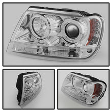 Load image into Gallery viewer, Spyder Jeep Grand Cherokee 99-04 Projector Headlights LED Halo LED Chrm - PRO-YD-JGC99-HL-C