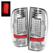 Load image into Gallery viewer, Spyder Ford Super Duty 08-15 LED Tail Lights Chrome ALT-YD-FS07-LED-C