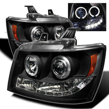Load image into Gallery viewer, Spyder Chevy Suburban 1500 07-14 Projector Headlights LED Halo LED Blk PRO-YD-CSUB07-HL-BK