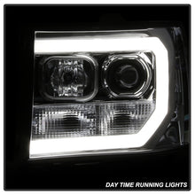Load image into Gallery viewer, Spyder GMC Sierra 1500/2500/3500 07-13 V2 Projector Headlights - Chrome PRO-YD-GS07V2-LBDRL-C