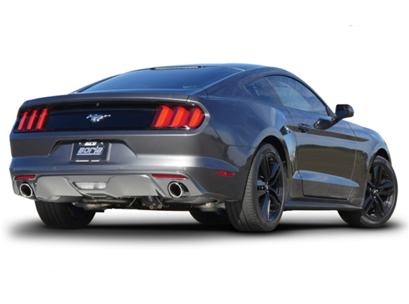 Borla S Type Cat Back 15-17 Ford Mustang 2.3L EcoBoost MT/AT 2.25in pipe 4in tip