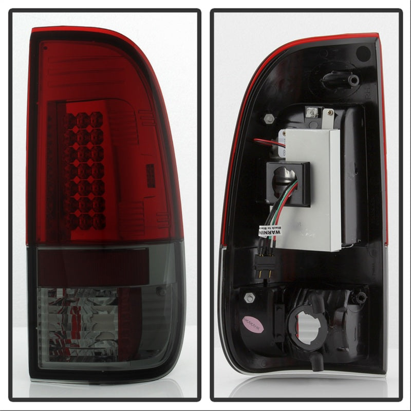 Spyder Ford F150 side 97-03/F250/350 Super Duty 99-07 LED Tail Lights Red Smke ALT-YD-FF15097-LED-RS