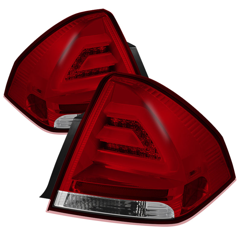 Spyder Chevy Impala 2006-2013 LED Tail Lights Red Clear ALT-YD-CHIP06-LED-RC