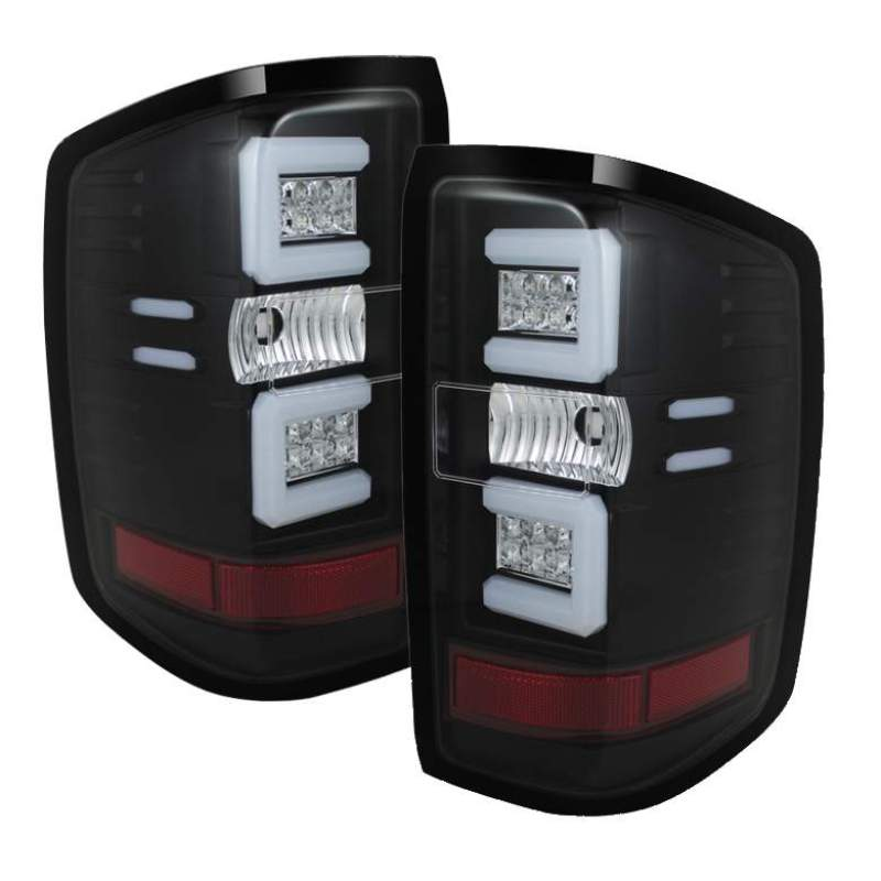 Spyder Chevy 1500 14-16 Light Bar LED Tail Lights Blk ALT-YD-CS14-LBLED-BK