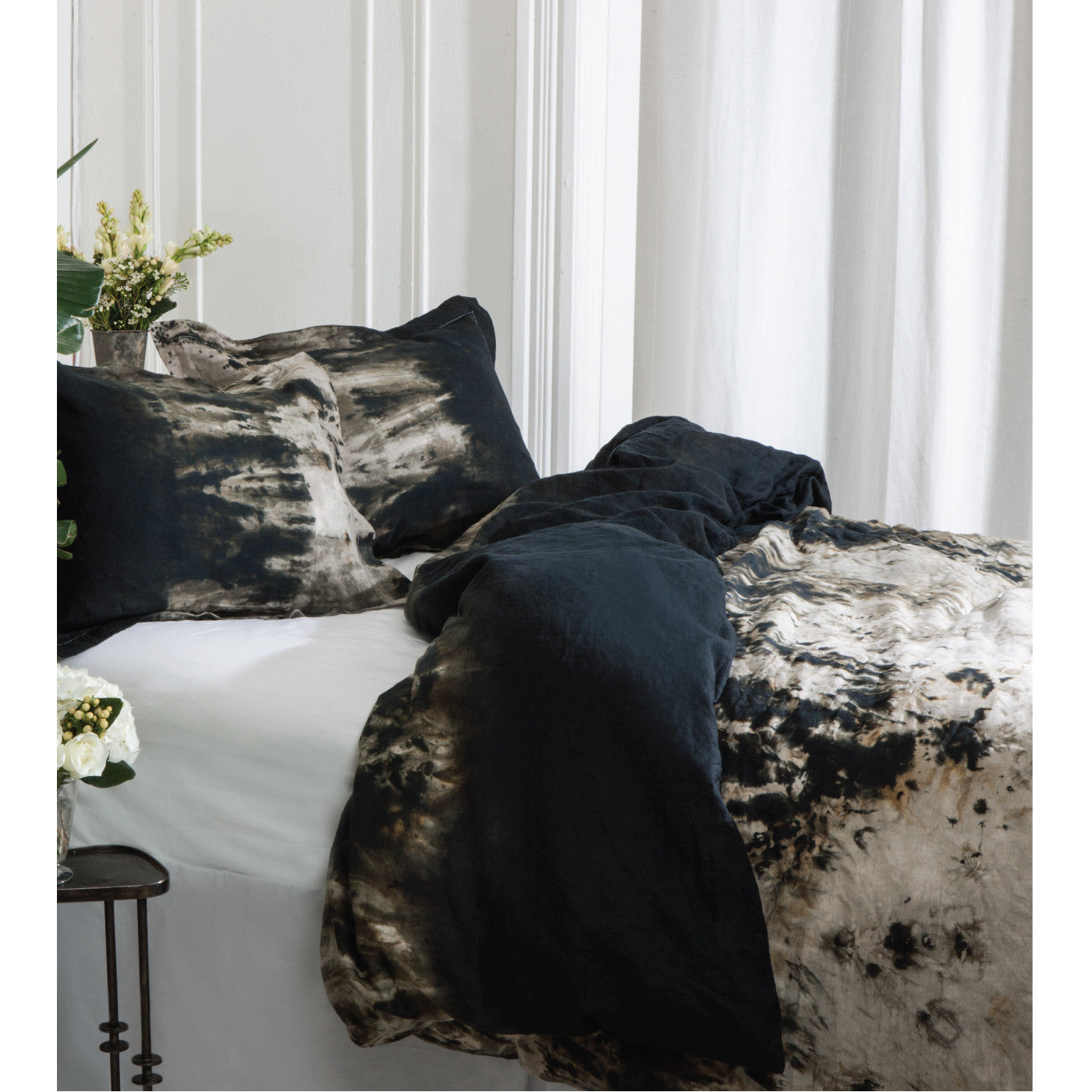 Deep Space Linen Shams