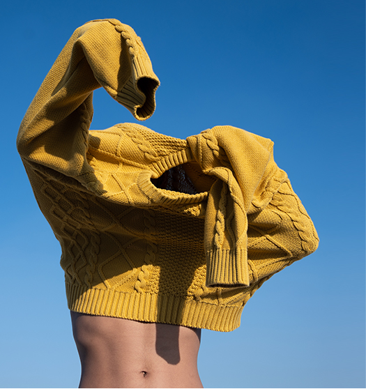 Mustard Cable Sweater - Unisex