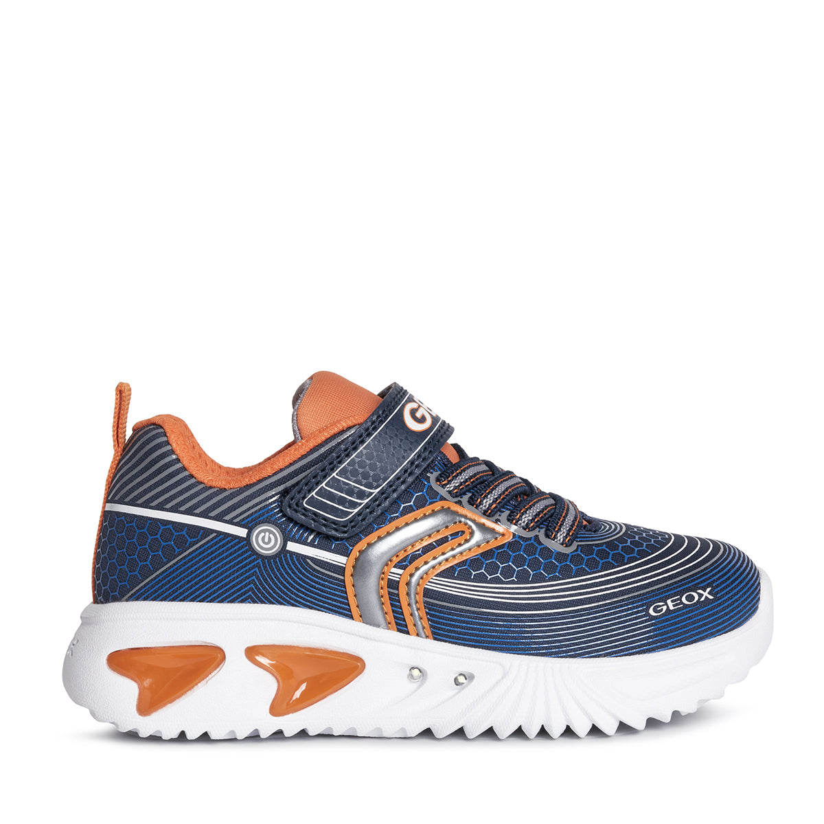 GEOX J15DZA NAVY/ORANGE