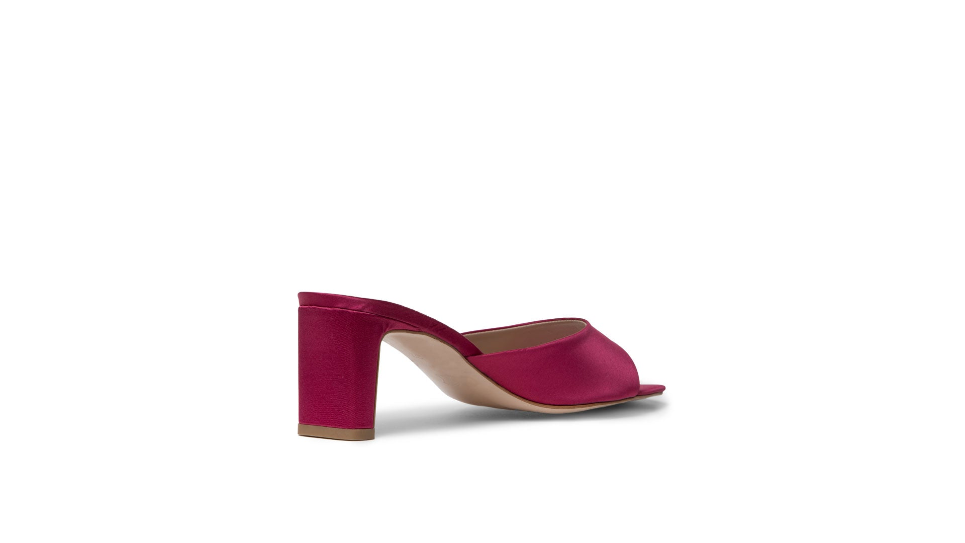 GLAMAZONS GREECE SATIN FUXIA MULE