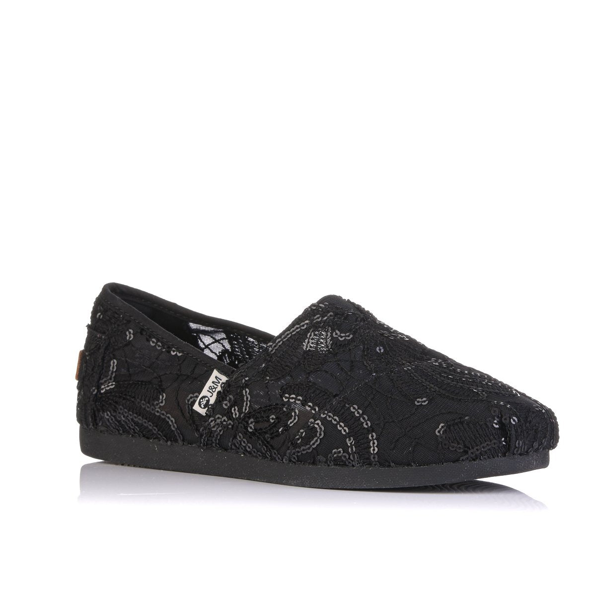 JM 19004 BLACK ESPADRILLES SINGLE