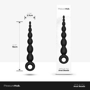 PleasureHub ANAL BEADS REAL SKIN FEEL PREMIUM SILICONE