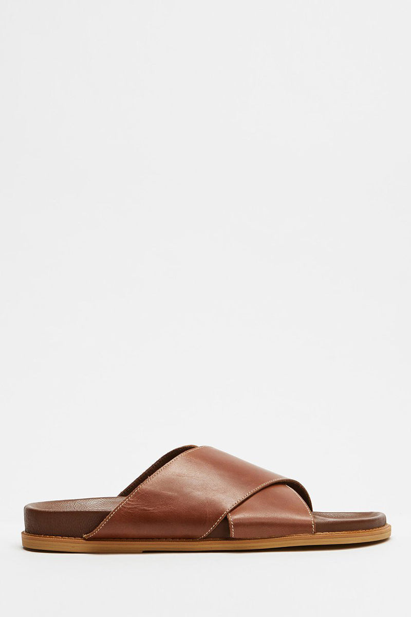 LA SPONDA SLIDE VINTAGE BROWN LEATHER