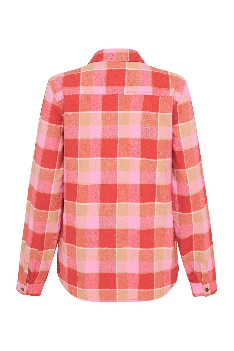 MONTAGUE FLANNEL SHIRT RED CORAL