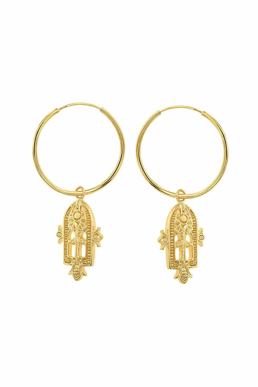 EASTERN AMULET EARRING GOLD