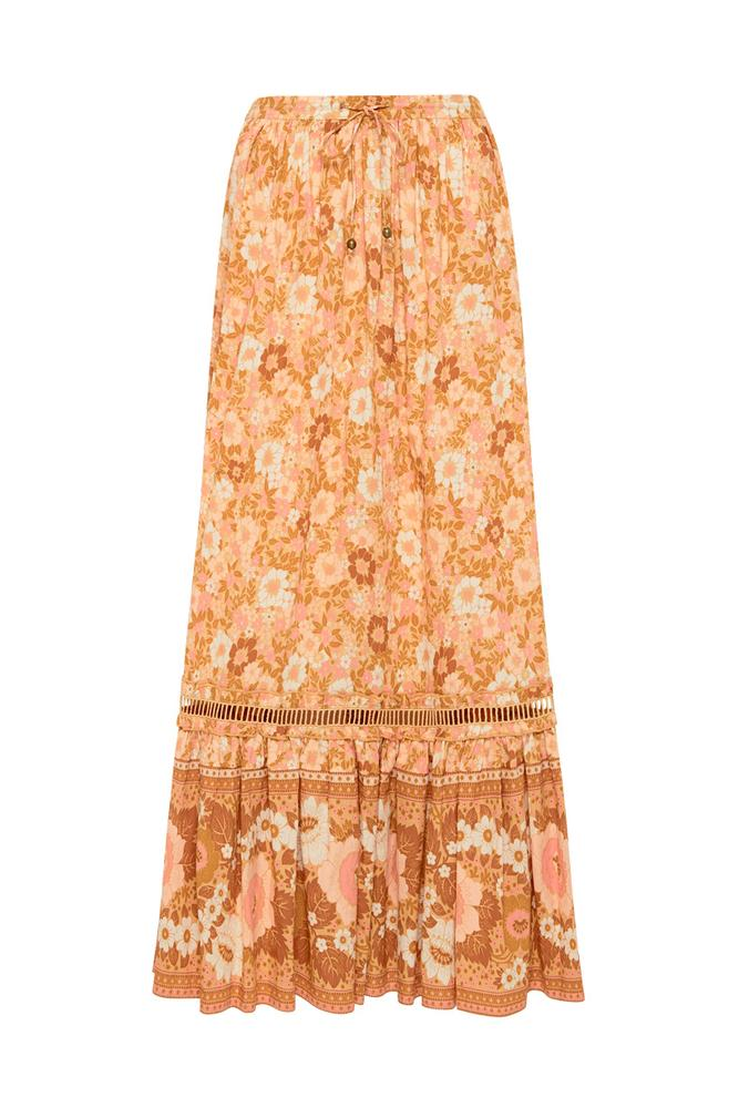 ANNE MAXI SKIRT PEACH