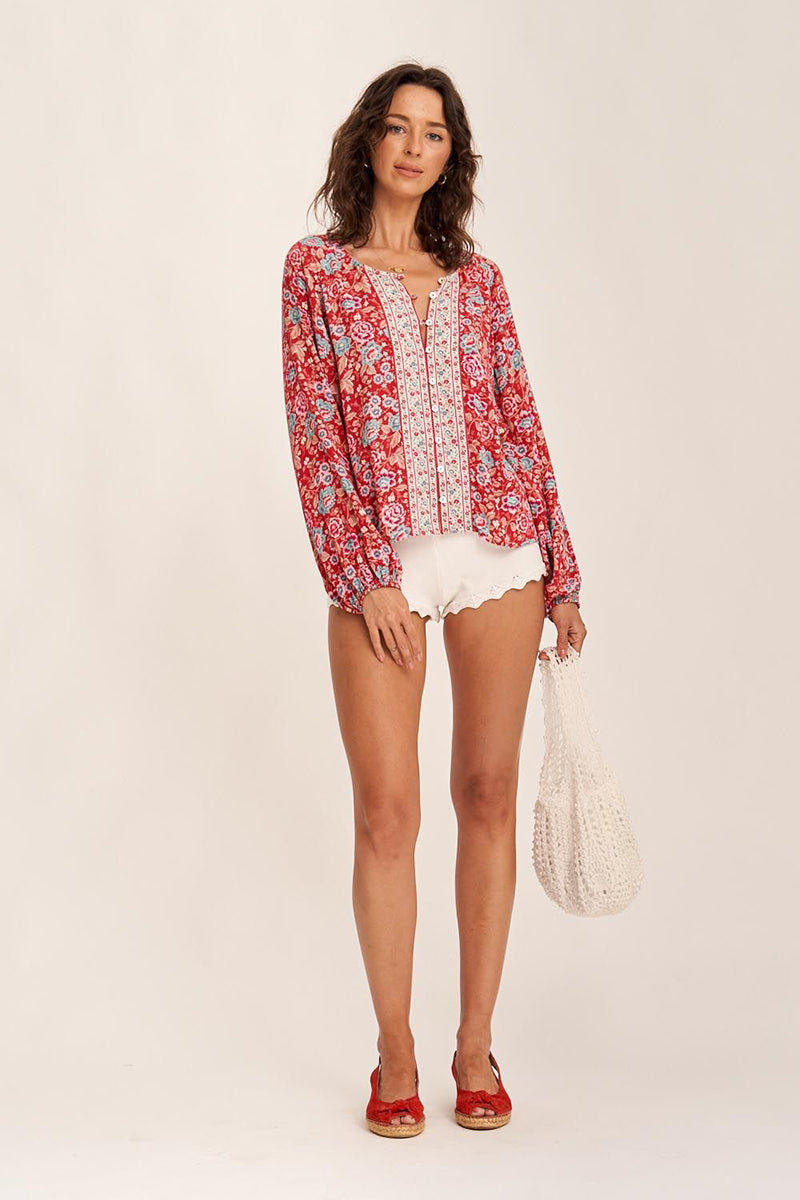 HARMONY BLOUSE STRAWBERRIES & CREAM