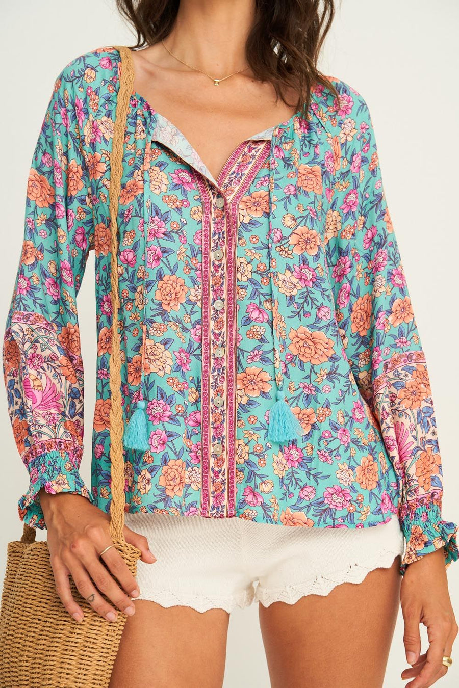 JASMINE BLOUSE PEACOCK