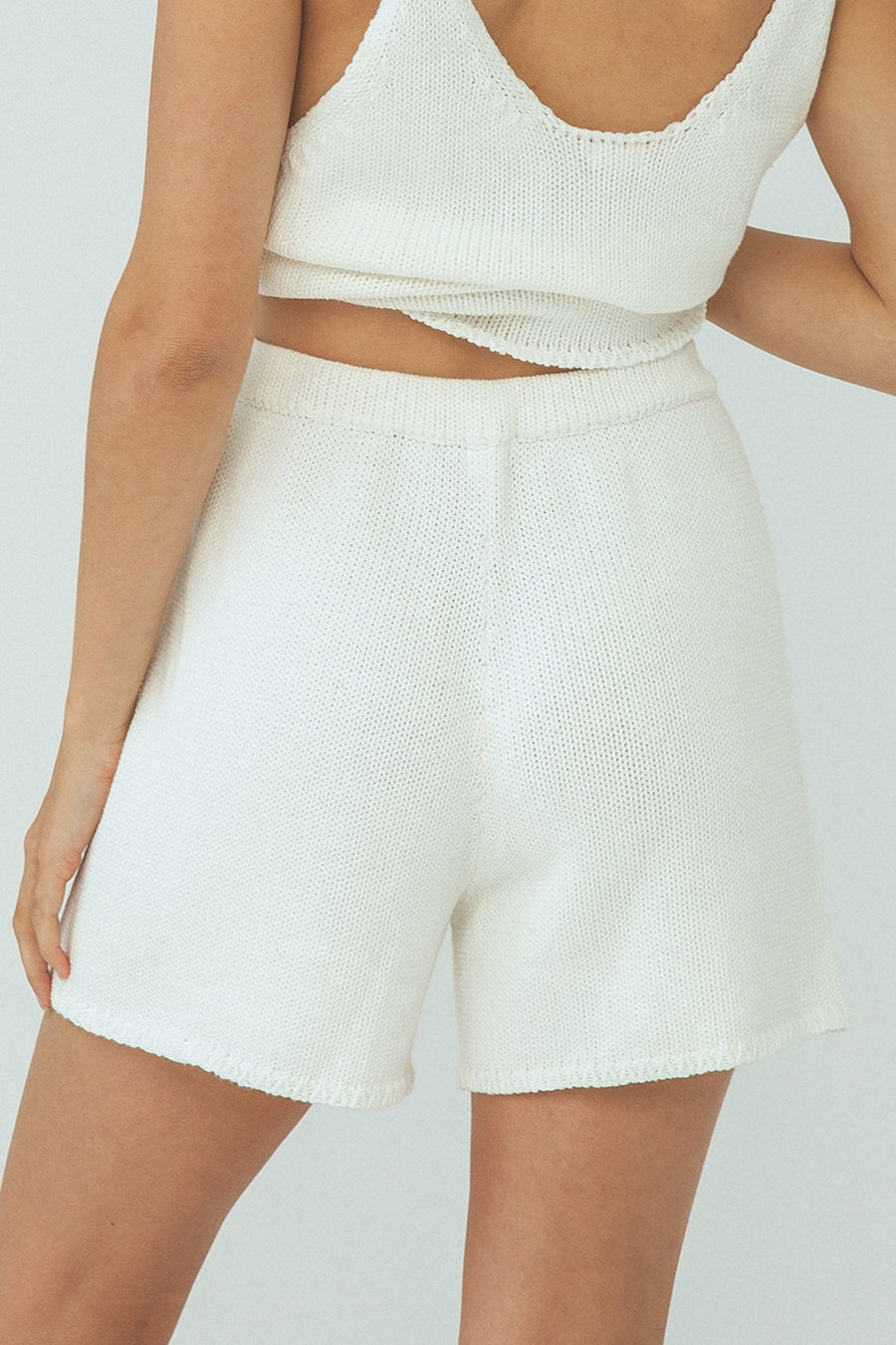 DELTA KNIT SHORT WHITE