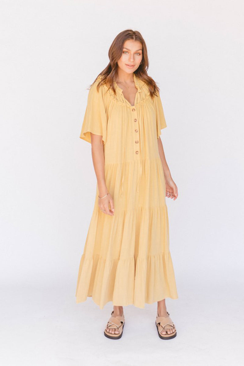 NIKITA MAXI DRESS MARIGOLD