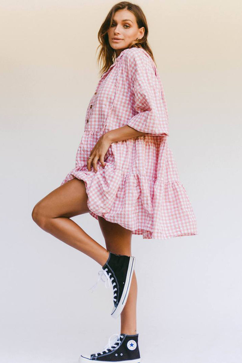 AVALON SMOCK DRESS CANDY GINGHAM
