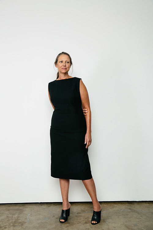 HOVER2_[a href=|/collections/signature/products/elise-dress-stretch-cotton|]Elise Dress [Black Stretch Cotton / 14 Short][/a]