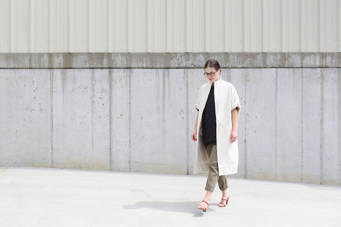 HOVER2_Cocoon Trench [OS] // Clyde Pant in Cotton Twill [4, Regular]