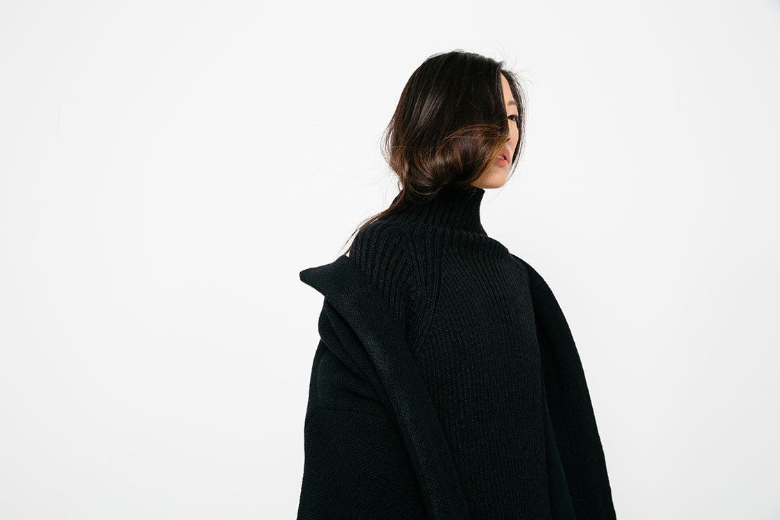 HOVER2_[a href=|/collections/outerwear/products/meredith-turtleneck-in-rib-alpaca-black?variant=30849787468|]Meredith Turtleneck [Black Rib Alpaca][/a] + [a href=|/products/cocoon-coat-heavy-basketweave-wool|]Cocoon Coat [Black Heavy Basketweave Wool][/a]