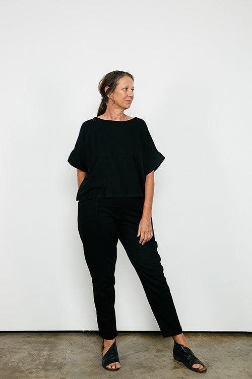 HOVER2_[a href=|/collections/signature/products/georgia-tee-linen|]Georgia Tee [Black Midweight Linen / OS][/a] + [a href=|/collections/signature/products/clyde-work-pant-cotton-twill|]Clyde Work Pant [Black Cotton Twill / 10 Tall][/a]