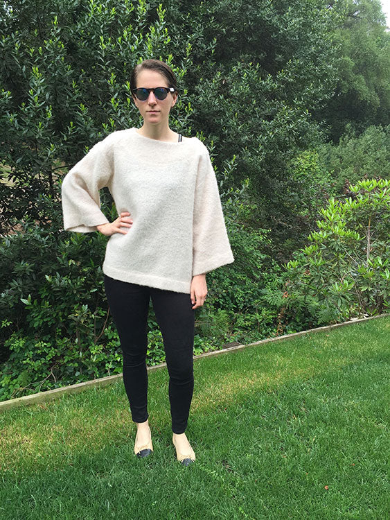 HOVER2_Sullivan Sweater [Ivory Fuzzy Wool / Small]