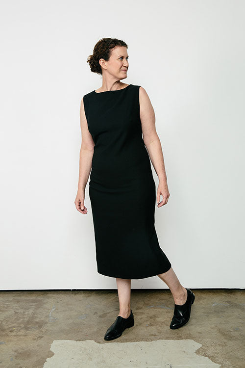 HOVER2_[a href=|/collections/signature/products/elise-dress-stretch-cotton|]Elise Dress [Black Stretch Cotton / 8 Regular][/a]