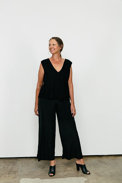 HOVER2_[a href=|/collections/signature/products/marlena-tank-silk-crepe|]Marlena Tank [Black Silk Crepe / Large][/a] + [a href=|/collections/signature/products/florence-pant-silk-crepe|]Florence Pant [Black Silk Crepe / Large Tall][/a]