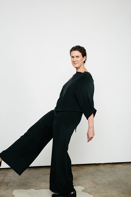 HOVER2_[a href=|/collections/signature/products/artist-smock-silk-crepe|]Artist Smock [Black Silk Crepe / OS][/a] + [a href=|/collections/signature/products/florence-pant-silk-crepe|]Florence Pant [Black Silk Crepe / Medium Tall][/a]
