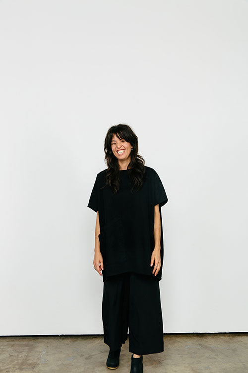 HOVER2_[a href=|/collections/signature/products/harper-tunic-cotton-twill|]Harper Tunic [Black Cotton Twill / OS Minus][/a] + [a href=|/collections/signature/products/florence-pant-silk-crepe|]Florence Pant [Black Silk Crepe / X-Small Regular][/a]