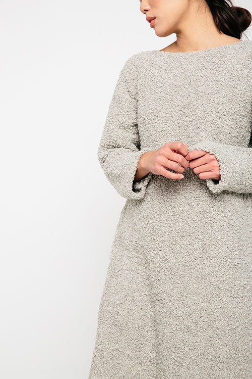 HOVER2_[a href=|/collections/knits/products/billie-sweater-dress-in-textured-wool-alpaca-fog|]Billie Sweater Dress [Fog Textured Wool/Alpaca][/a]