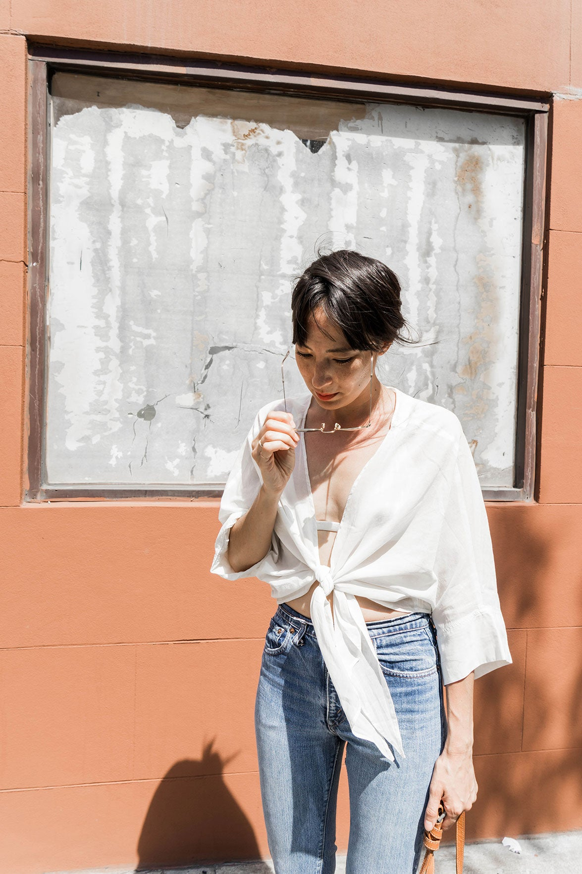 HOVER2_Stevie Tie Top [Ivory Cotton Voile]