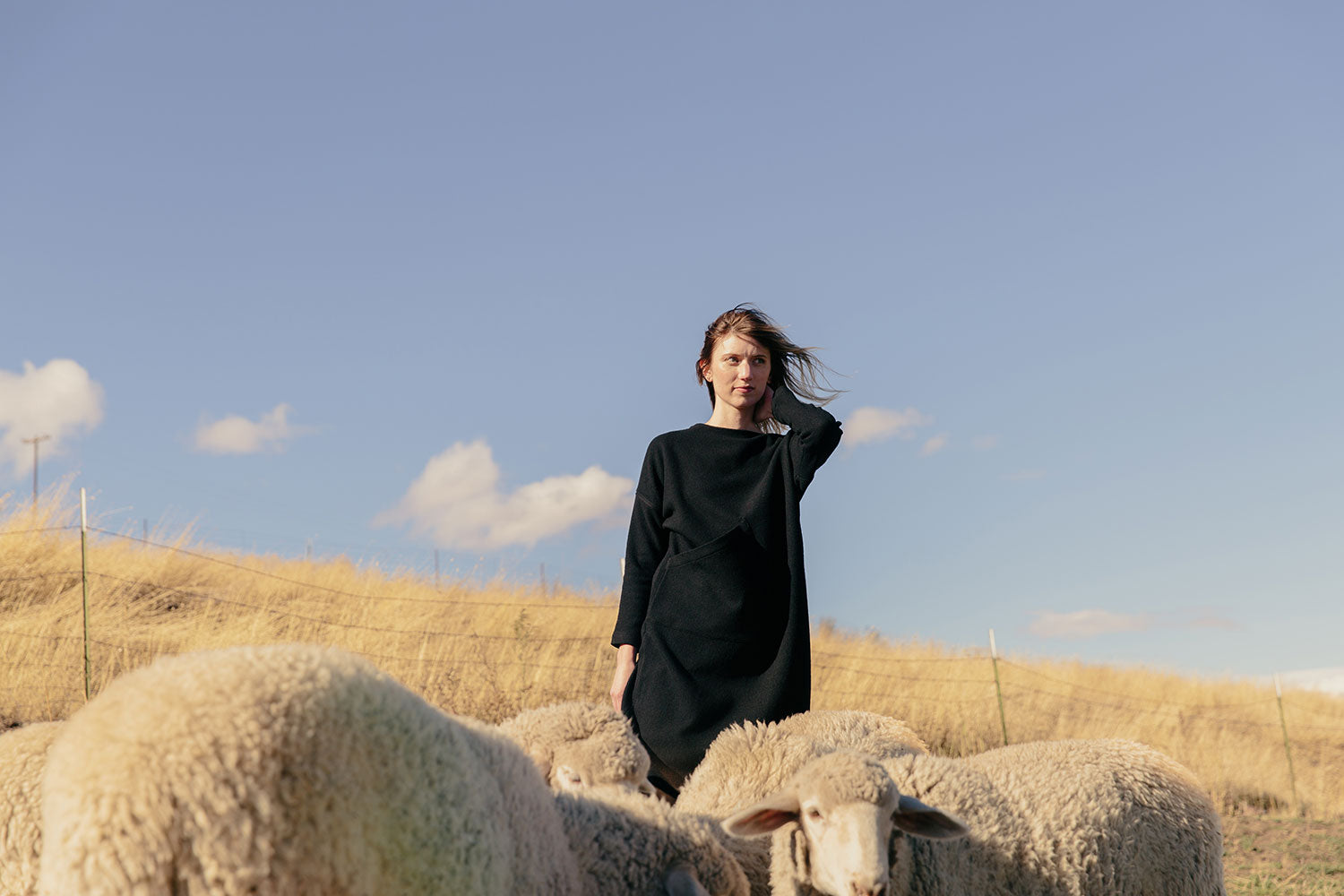 HOVER2_[a href=|/collections/cold-weather-collection/products/harper-sweater-dress-midweight-felted-wool|]Harper Sweater Dress [Black Midweight Felted Wool][/a]