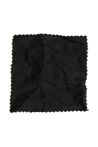 Black Midweight Linen by the Yard