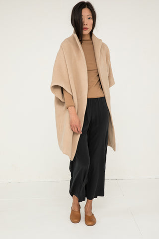 Cocoon Coat in Heavyweight Wool Fawn - Chung-OS Minus