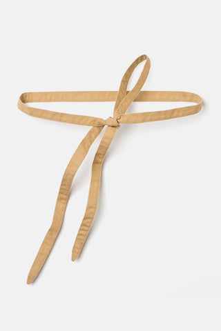 Serpentine Wrap Belt in Cotton Canvas Khaki