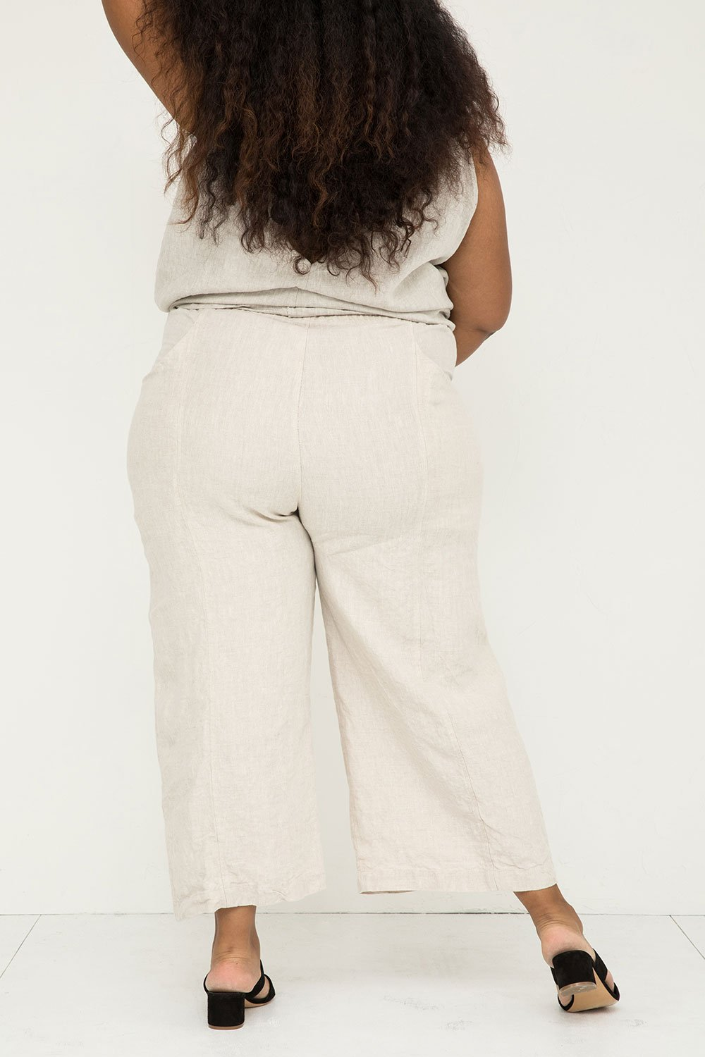 Clyde Culotte in Midweight Linen Flax - Alex-22 Regular