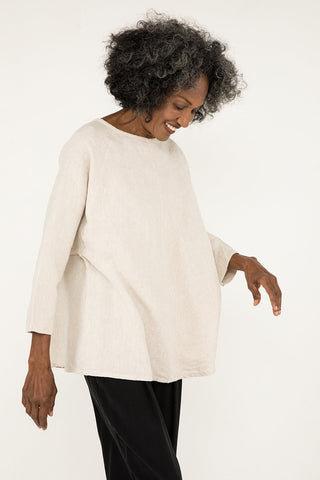 Artist Smock in Midweight Linen Flax - Pat-OS