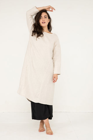 Parabola Dress in Midweight Linen Flax - Natalie-M