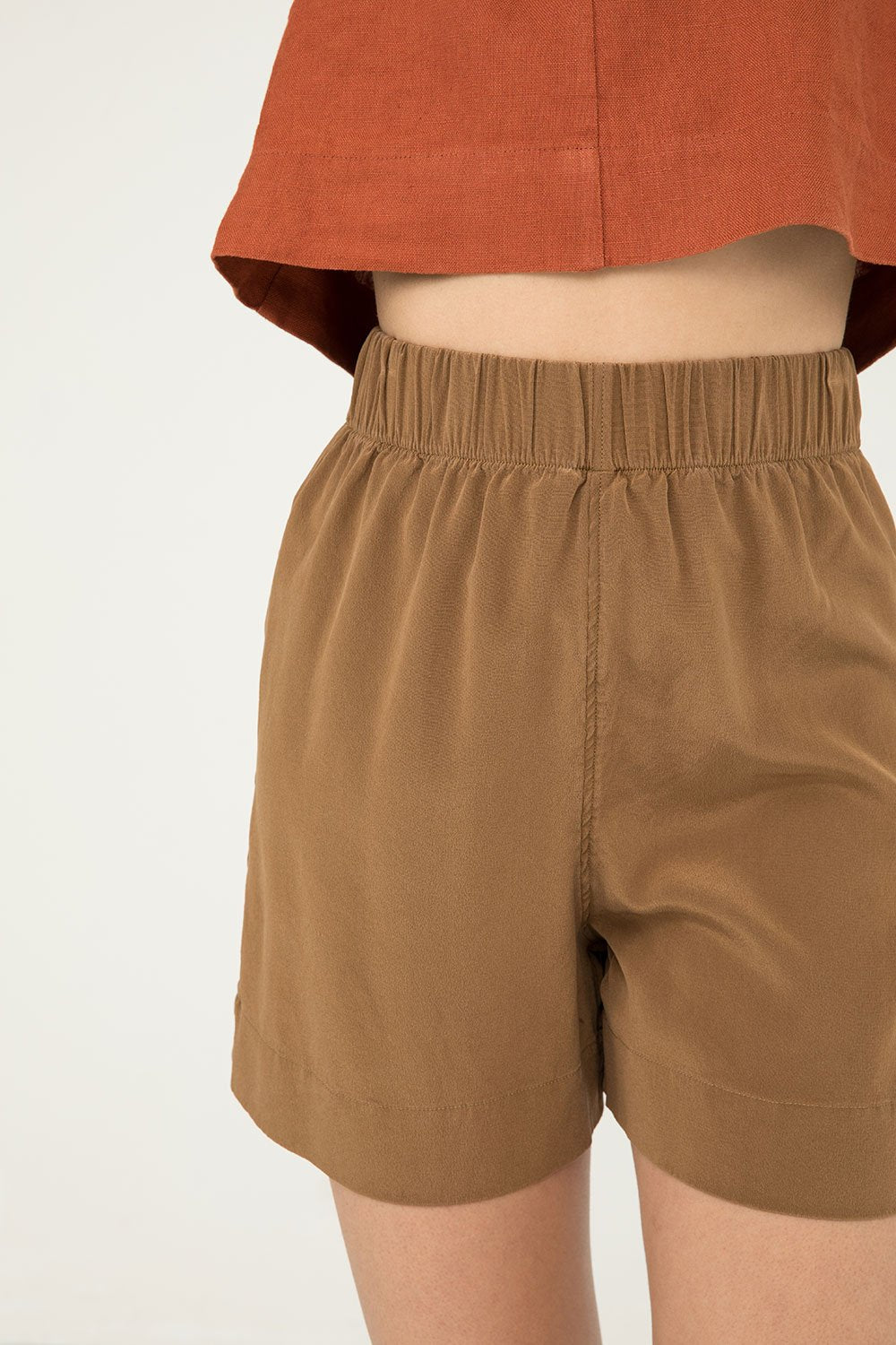 Florence Short in Silk Crepe Moss - Molly-XS