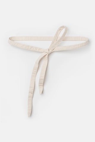 Serpentine Wrap Belt in Cotton Canvas Natural