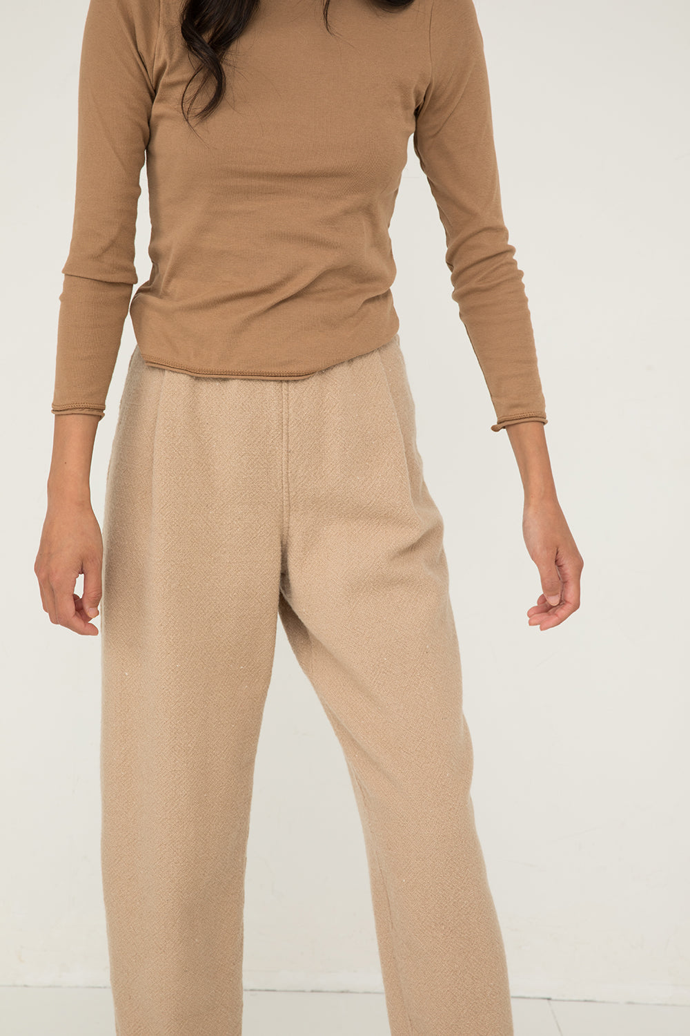 Andy Trouser in Lightweight Wool Fawn - Chung-XXS Regular