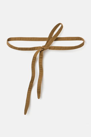 Serpentine Wrap Belt in Cotton Canvas Clay