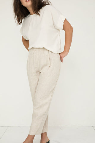Andy Trouser in Midweight Linen Flax