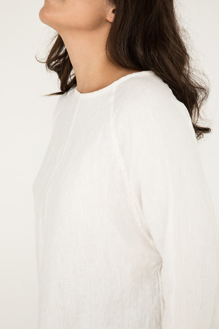 Artist Smock in Midweight Linen Ivory - Natalie-OS