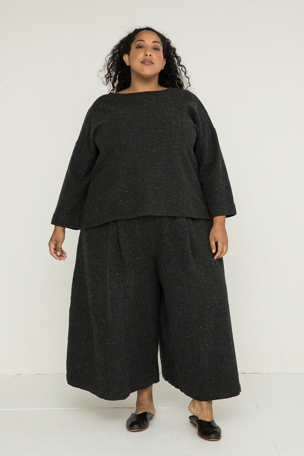 Andy Palazzo in Lightweight Wool Charcoal - Alex-3XL Regular