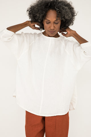 Artist Smock in Midweight Linen Ivory - Pat-OS